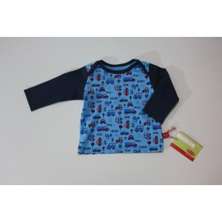 Baby-Shirt Autos allover, blau, 62/68