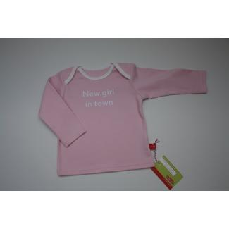 "Baby-Shirt ""New girl …"", rosa, 50/56"