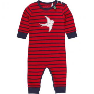 Bodysuit Swallow stripe navy/red Größe 62