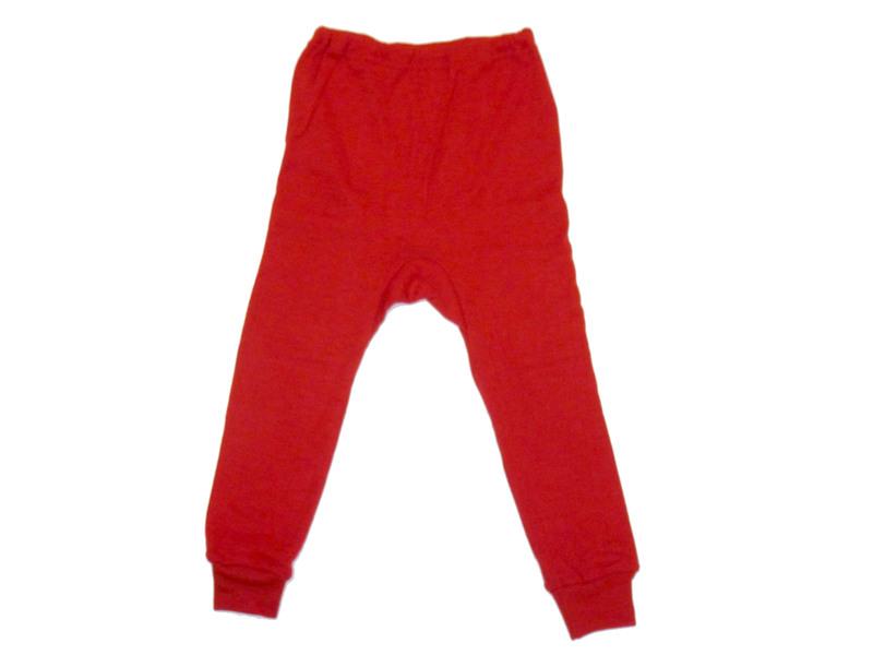 """f5aa44f2885af1 Kinder-Unterhose lang aus Wolle-Seide - von """"Cosilana"""", rot, 92"""