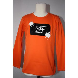 "Langarm-Shirt ""Schulkind"", orange, 122/128"