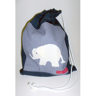 Turnbeutel Elefant navy