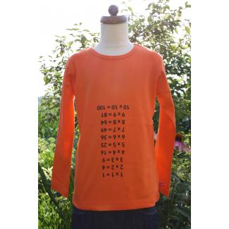 Langarm-Shirt Spicker Mathe 1x1, orange, 122/128
