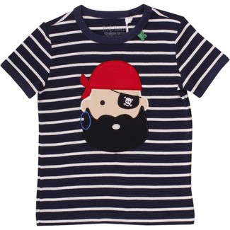 T-Shirt Sailor Stripe Pirat, navy-weiß, Größe 128