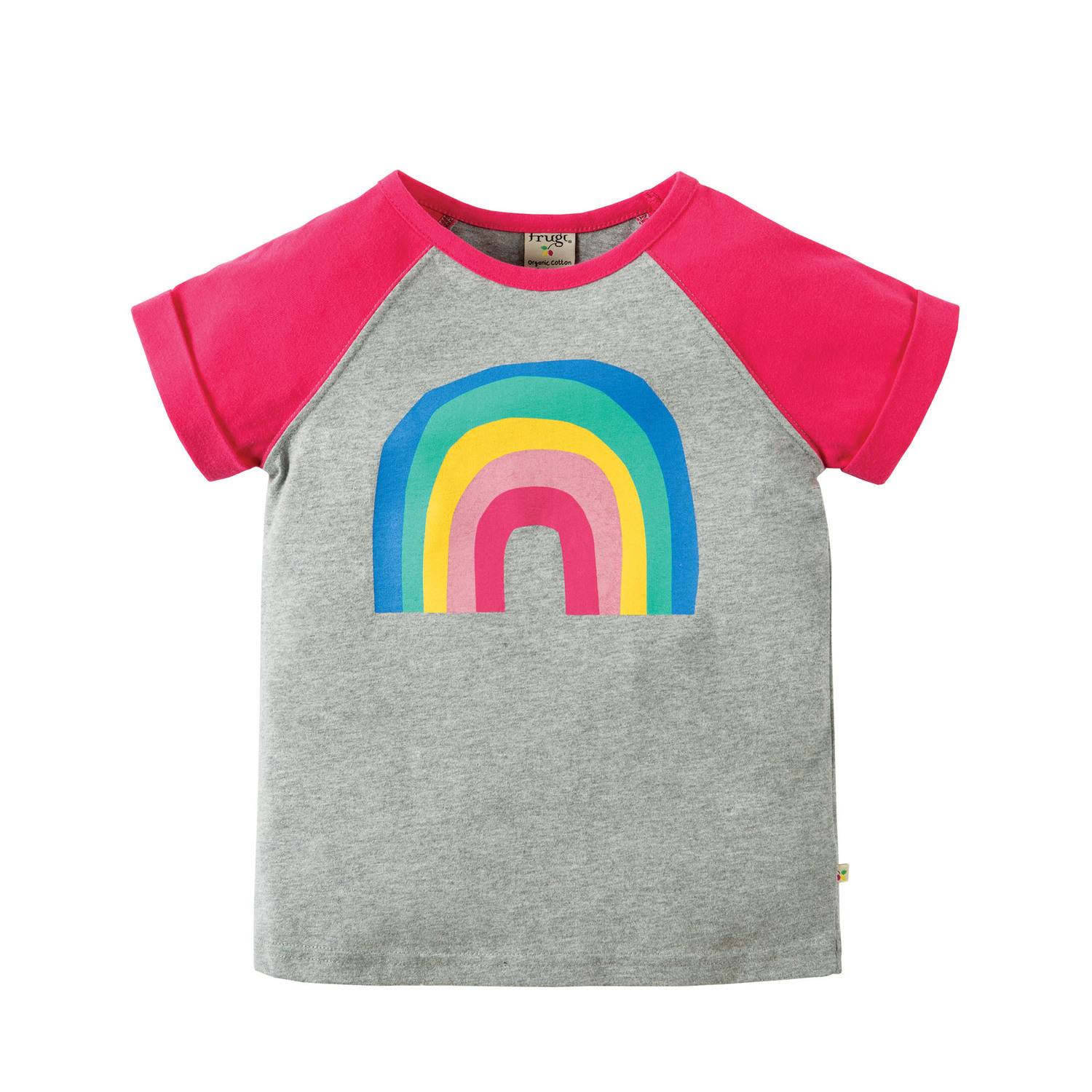 t shirt regenbogen von frugi 2 3 jahre kleinkind. Black Bedroom Furniture Sets. Home Design Ideas
