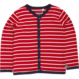 Baby Cardigan Stripe red/cream 92