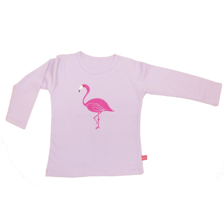 Langarm-Shirt Flamingo, flieder, 134/140