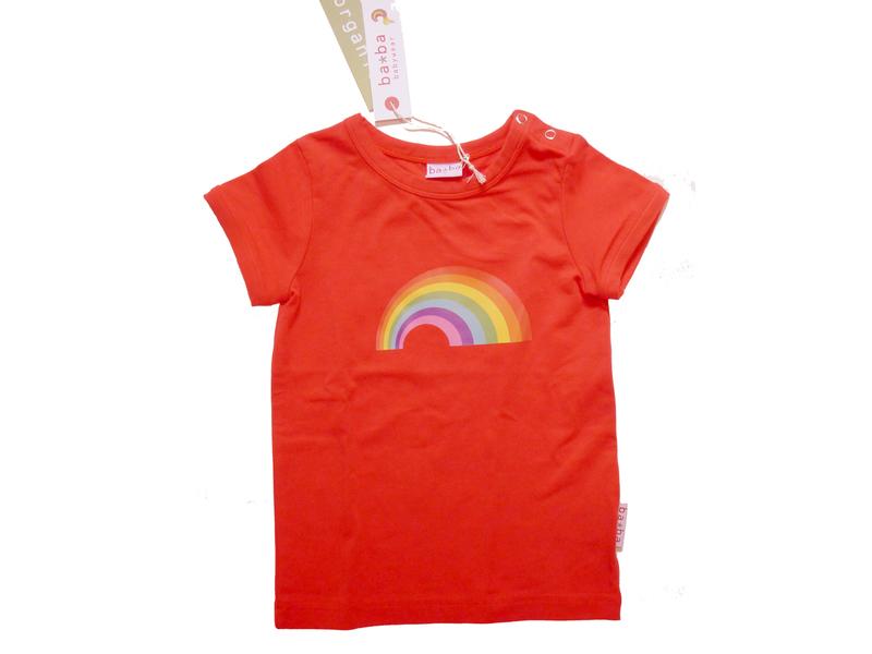 T Shirt Regenbogen Rot Von Baba Gr 92 Reduziert Anton Emmade