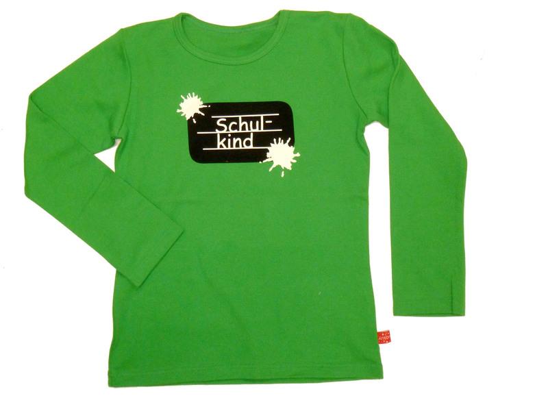 """the best attitude bb87d 9a928 Langarm-Shirt """"Schulkind"""",grün, 134/140"""