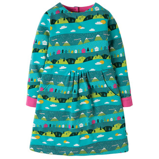 Lulu Jumper Dress, türkis, Alpin Town, 3-4 Jahre