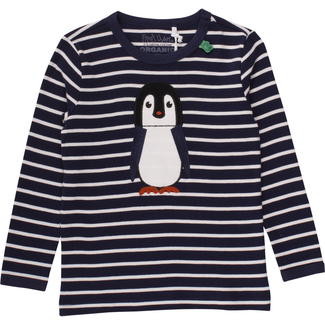 Shirt Pinguin, marine-weiß, mit Applikation, Gr. 122