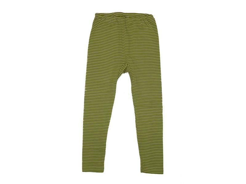 """ba74ffd8ad0609 Kinder-Leggins aus Wolle-Seide - von """"Cosilana"""", grün/natur geringelt, 128"""