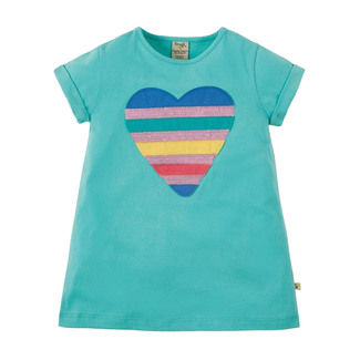 Sophie Sequin Applique Top, Sequin Heart, mint, 7-8 Jahre