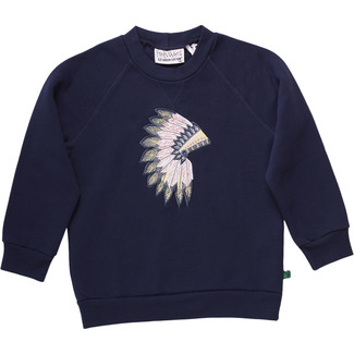 Sweatshirt Indianer, navy, Gr. 128