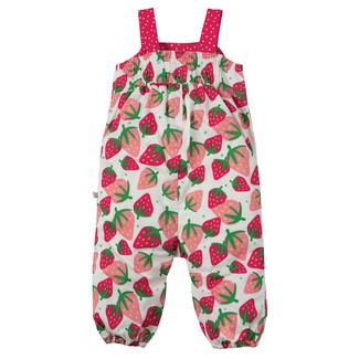 Springtime Dungaree Scilly Strawberries, von frugi, 12-18 mon