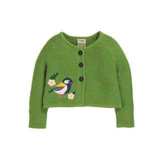 Annie Applique Cardigan, Meadow Finch, Frugi, 6-7 J