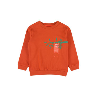 Mika Sweatshirt, Print Faultier, Lily Balou, potters clay (orange), Gr. 104