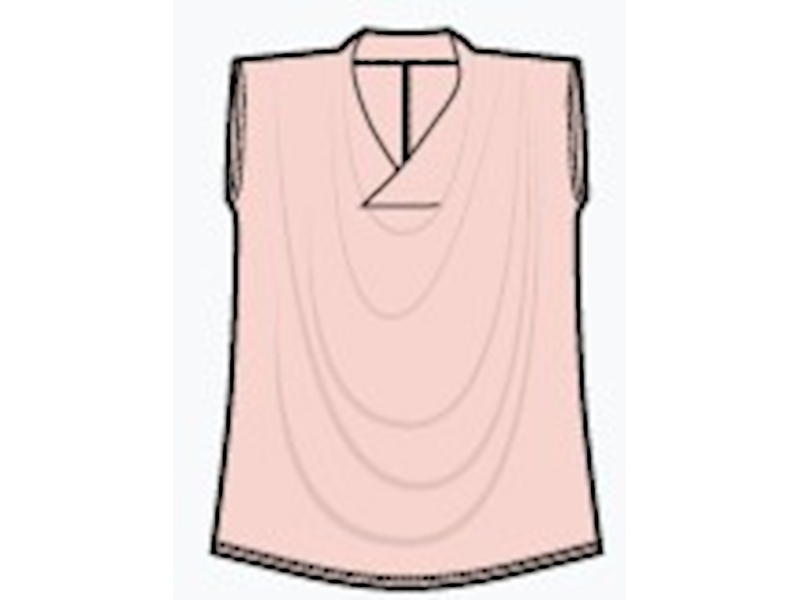 Isla drapped Top, Creole Pink (rosé), von Lily Balou, Gr. 34
