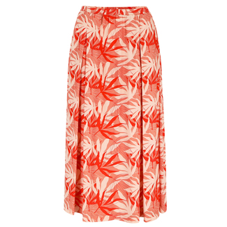 Chiara Skirt, Rock, Palm Leaves, orange gemustert, von Lily Balou, Gr. 34